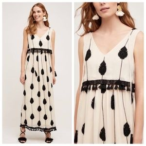 Anthropologie Embroidered Medallion Maxi Dress 4